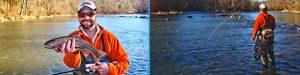 Man in orange fishing