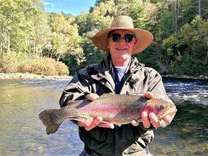 Man's Caught Fish on Fishing Trip